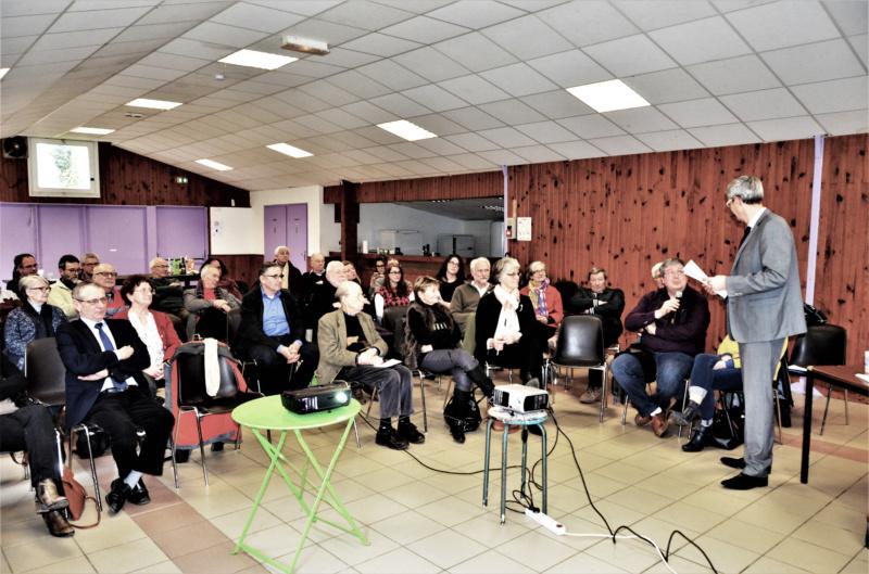 Intervention du président de la Communauté de Communes Argonne-Meuse ; Sébastien Jadoul, photo Michel Coistia