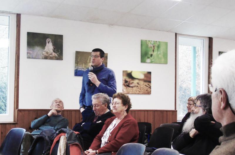 Intervention du nouveau président de l'office de tousirme de Clermont photo de Jean-Jacques Mayot