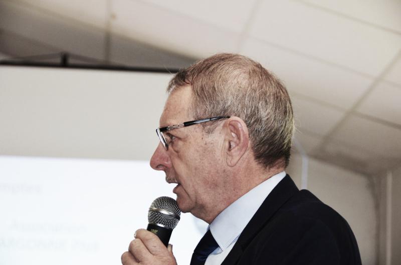 Photo Michel Coistia : intervention de Jean Notat, conseiller régional de la Marne et maire de Châtrices